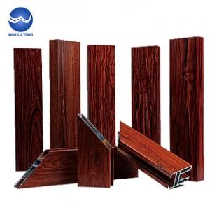 Aluminum wood composite profiles
