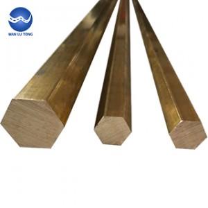 Lead brass hexagonal rod