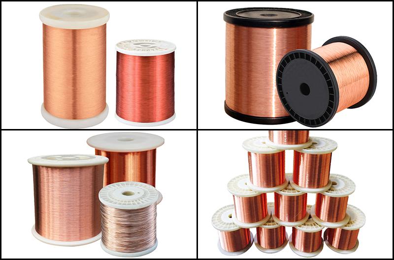 Purple-copper-wire